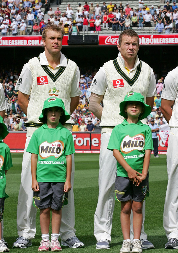 Tess Flintoff with Peter Siddle at the 'G on Boxing Day